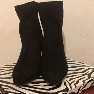 Black Suede Fashion Boots